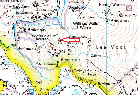 little-trowlesworthy-tor-map