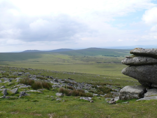 White Tor to the right with Cox Tor and Roos Tor to the left