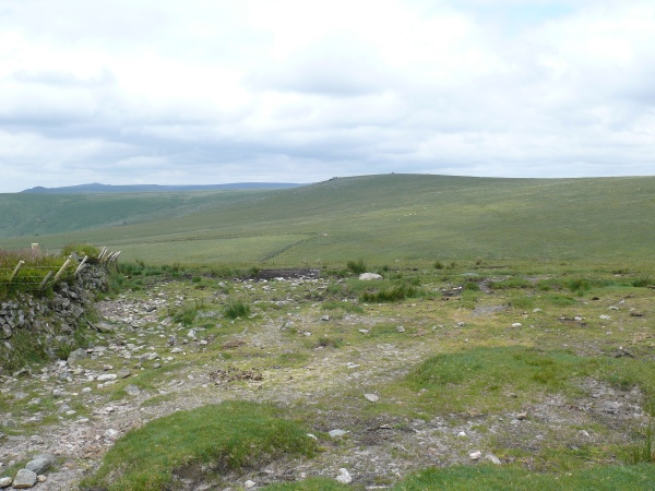 Looking back to Lynch Tor