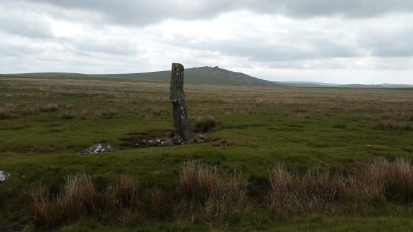 The menhir on Langstone Moor