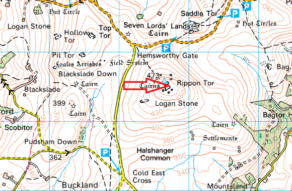 rippon-tor-map