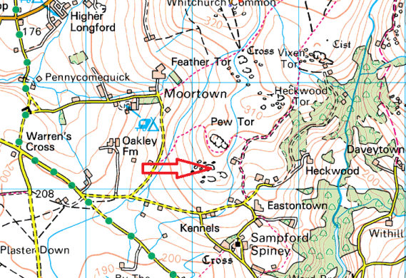 sampford-tor-map