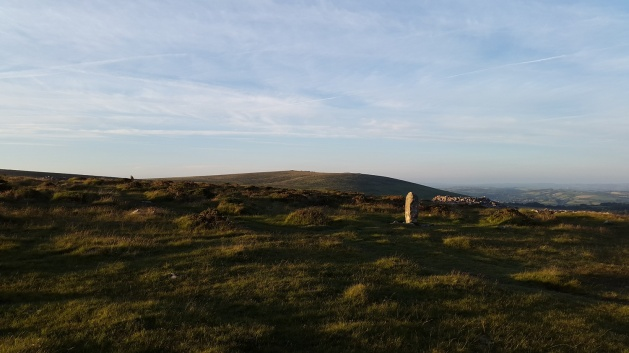 Looking back to Ugborough Beacon