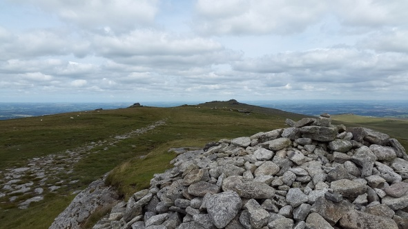 Looking back to Yes Tor from High Willhays