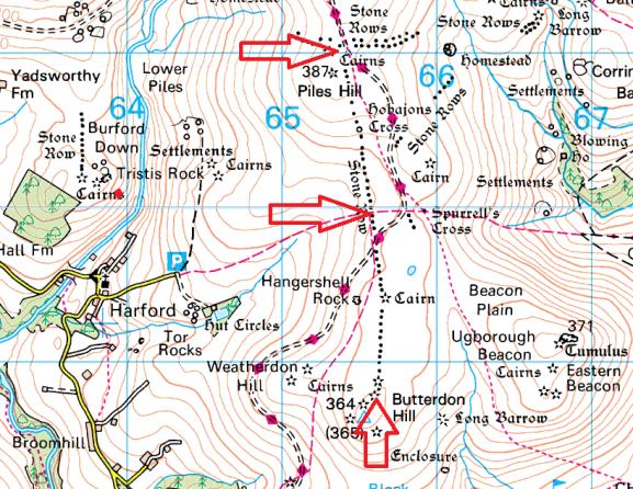 butterdon-stone-row-map