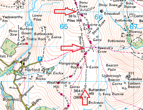 butterdon-stone-row-map