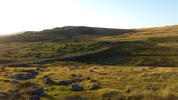 Swell Tor and the Princetown railway from East Tor