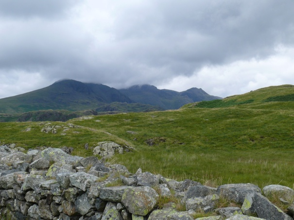 From the Fort looking across to the Scafells, which a in view for most of this walk