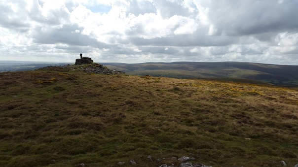 Summit hogger with his tripod on Corndon Tor