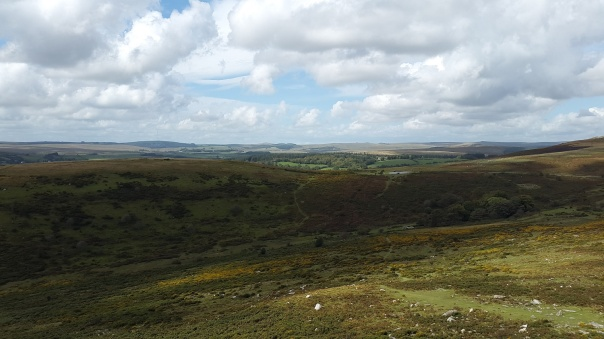 Car park below with North Dartmoor beyond
