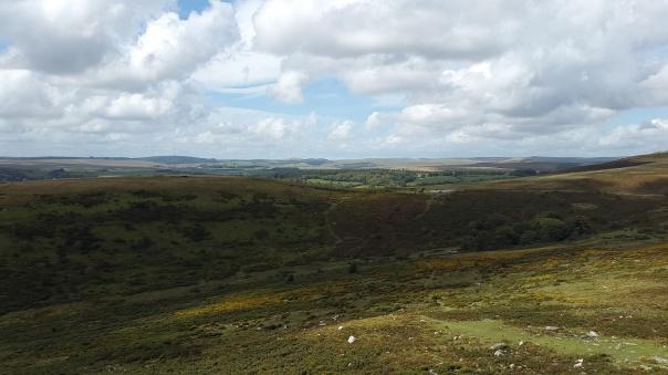 Car park below with North Dartmoor beyond