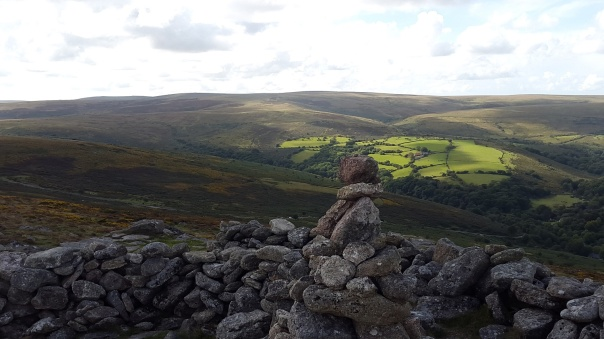 Yar Tor cairn with Ryders Hill behind