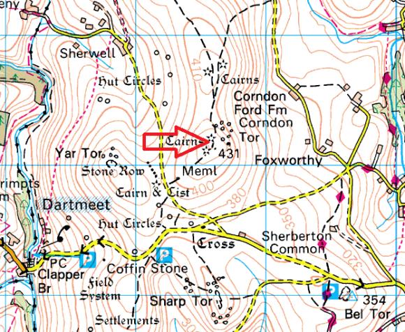 corndon-tor-map