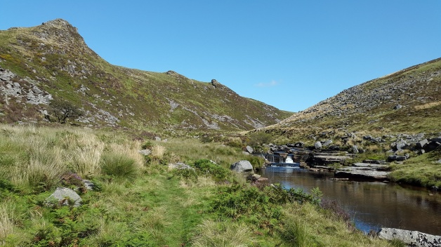 The River Tavy and Tavy Cleave Tors above
