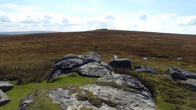 Looking back up to Higher White Tor