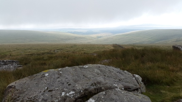 Looking down the East Dart valley from Sittaford Tor