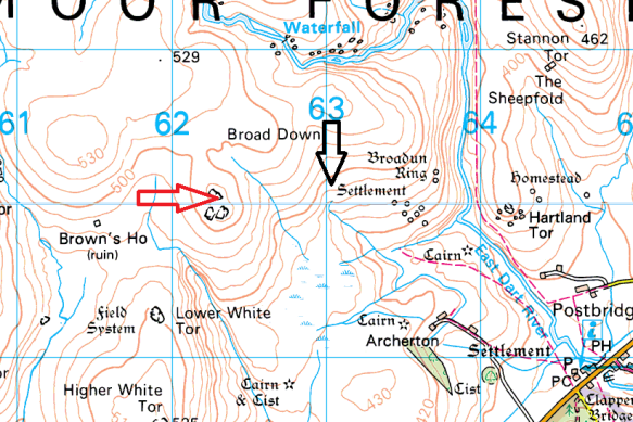 broadown-tor-map
