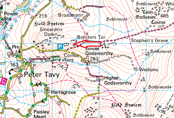 boulters-tor-map