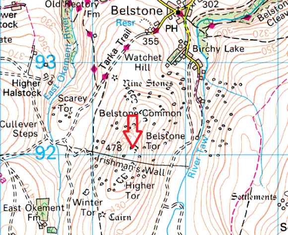 belstone-tor-map