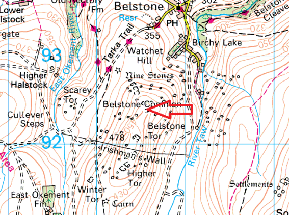 ladybrook-tor-map