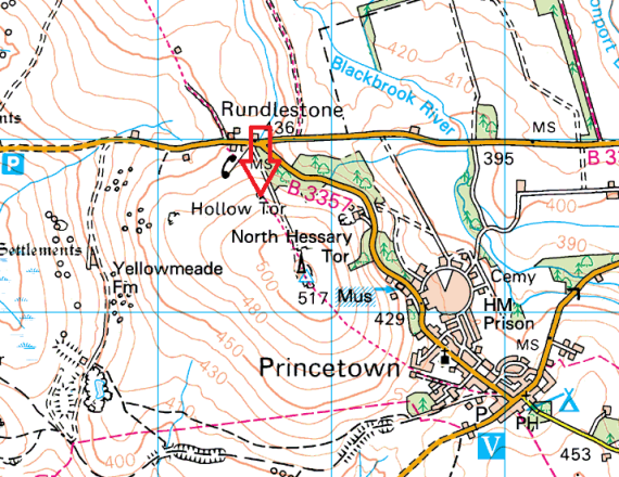 rundlestone-tor-map