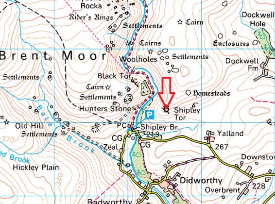 shipley-tor-map