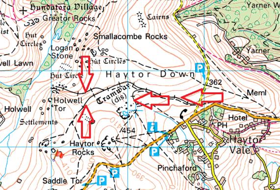 haytor-tramway-map
