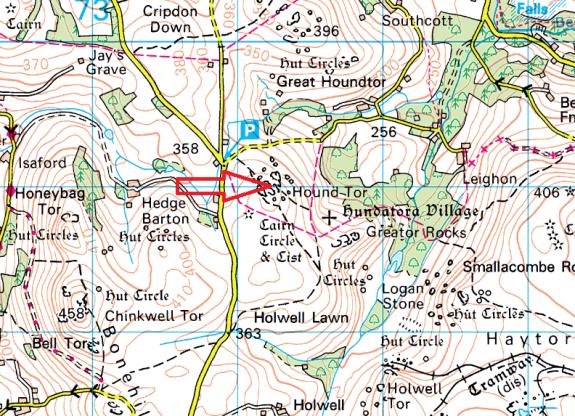 hound-tor-manaton-map