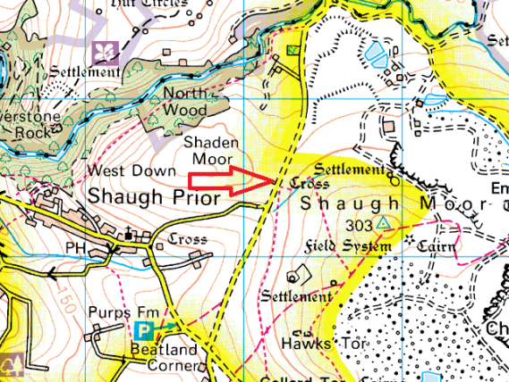 shaden-moor-cross-map