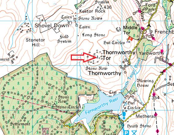 thornworthy-tor-map
