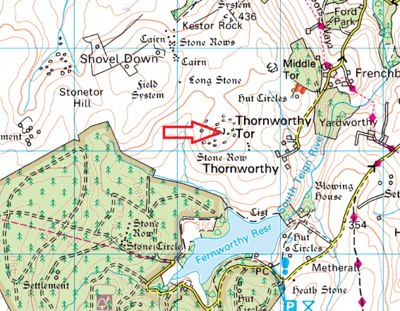 thornworthy-tor-map