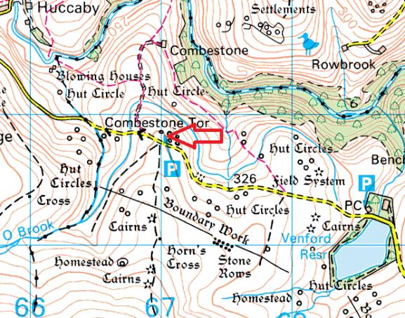 combestone-tor-map