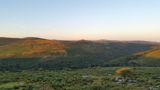 Combestone Tor sunset 1