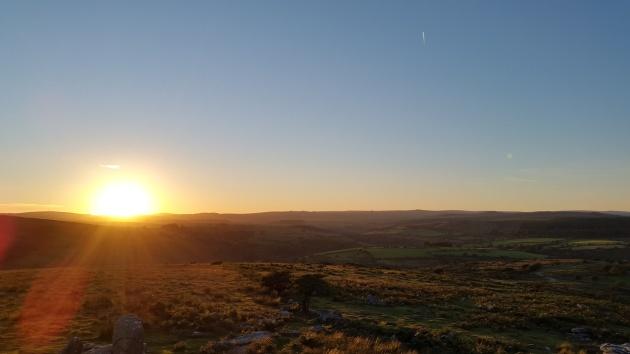 Combestone Tor sunset 2