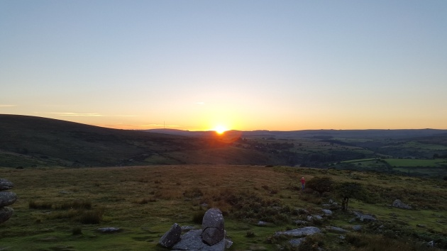 Combestone Tor sunset 5