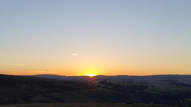 Combestone Tor sunset 6