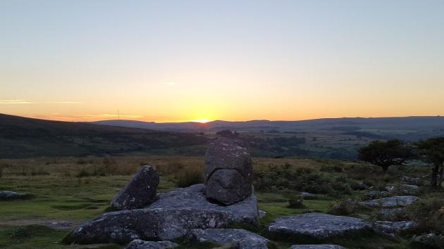 Combestone Tor sunset 7