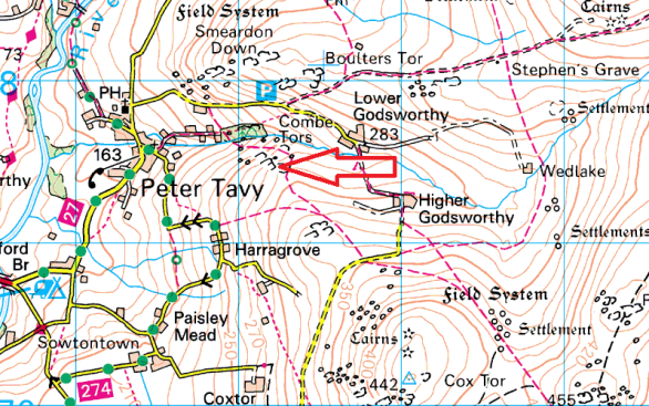 great-combe-tor-map