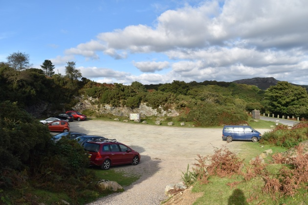 The quarry parking at Burrator