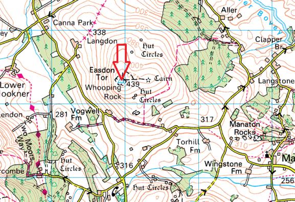 easdon-tor-map