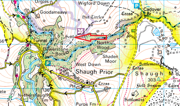 cadworthy-tor-map