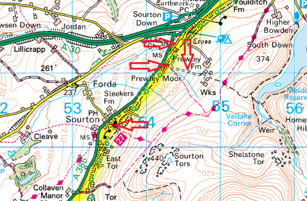 sourton-parking-map