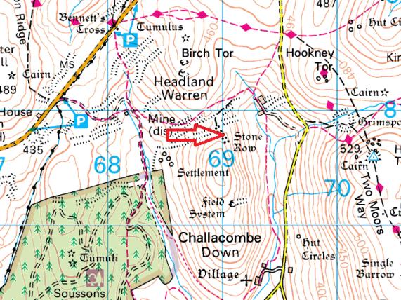 challacombe-stone-row-map