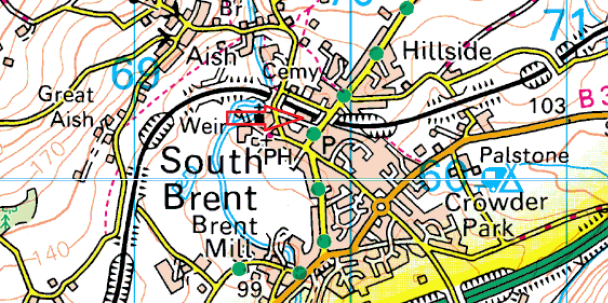 south-brent-map