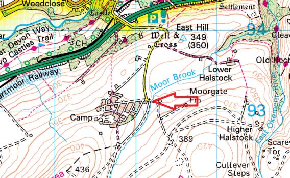 okehampton-camp-bridge-map