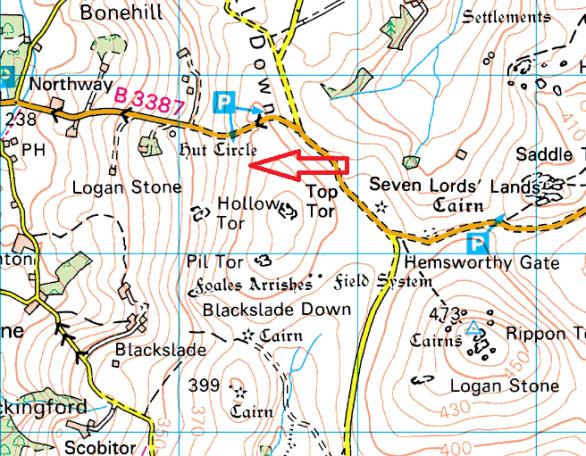 bovey-rock-map