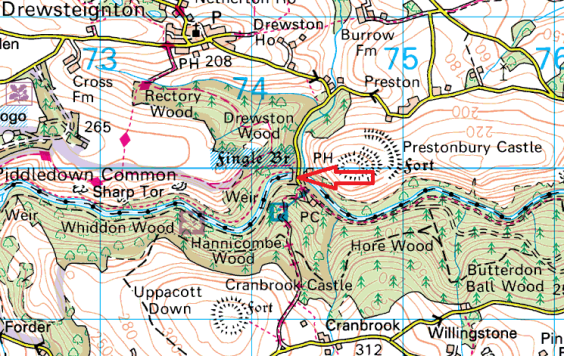 fingle-bridge-map