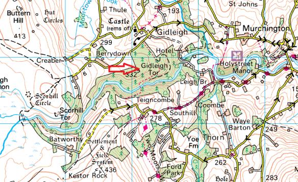 gidleigh-tor-map