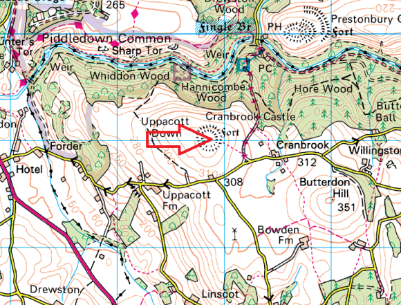 uppacott-down-map