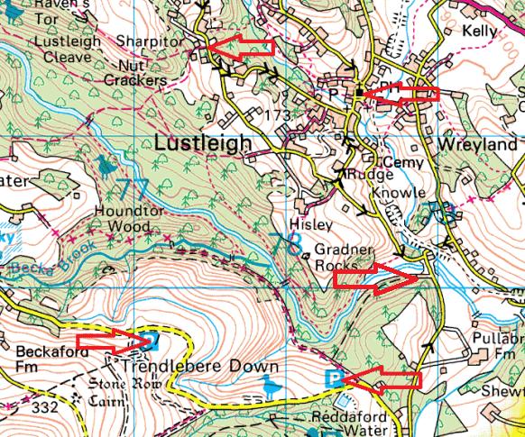 lustleigh-parking-map